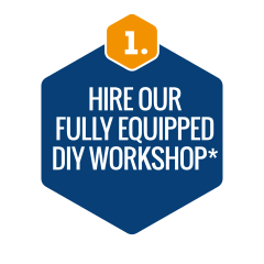 Hire our fully equipped DIY workshop