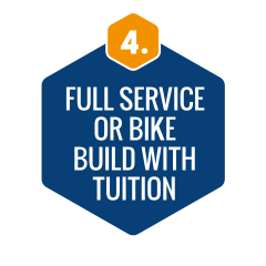 Full service or bike build with tuition